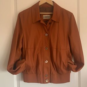 Beautiful leather bomber jacket by CHRIST size M